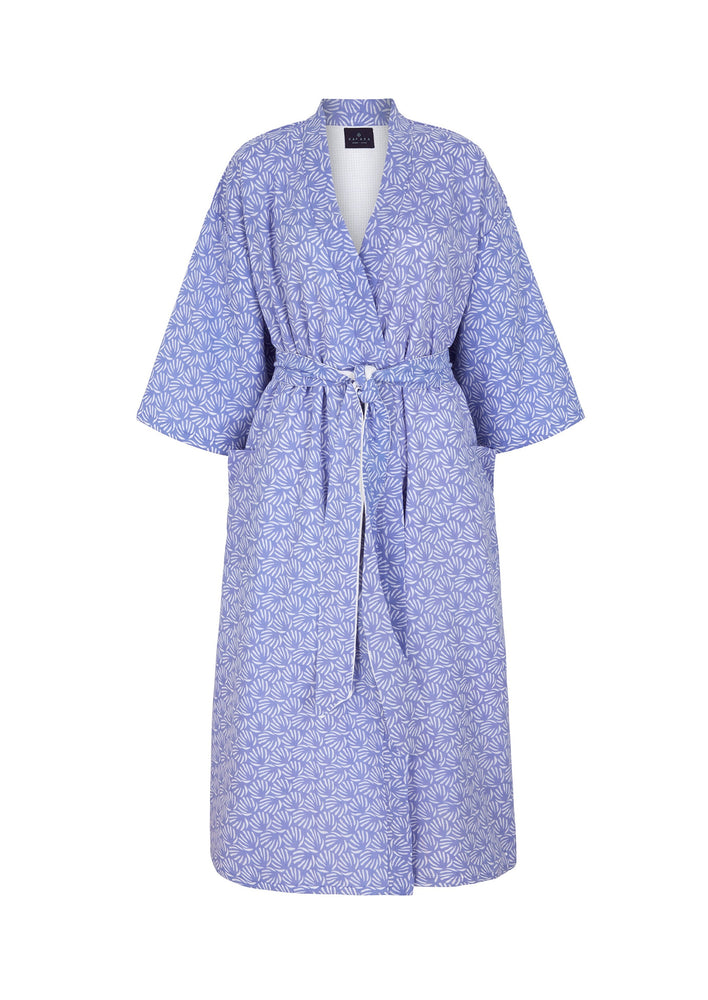 Organic Cotton Dressing Gown in Blue