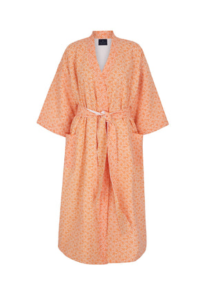 Load image into Gallery viewer, Organic Cotton Dressing Gown in Peach