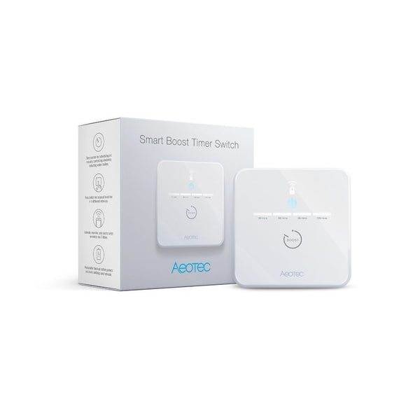 Z-Wave Plus Aeotec Smart Boost Timer Switch New Aeotec