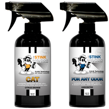 Load image into Gallery viewer, The Stink Solution One Cat Citrus Orange, One Unscented 16 oz. Sprays