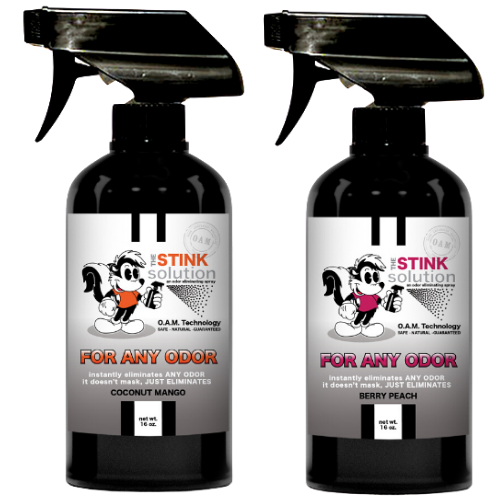 The Stink Solution One Coconut Mango, One Berry Peach 16 oz. Sprays