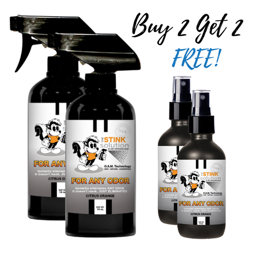 Buy 2 Get 2 FREE Bundle - For Any Odor Eliminator in Citrus Orange Fragrance