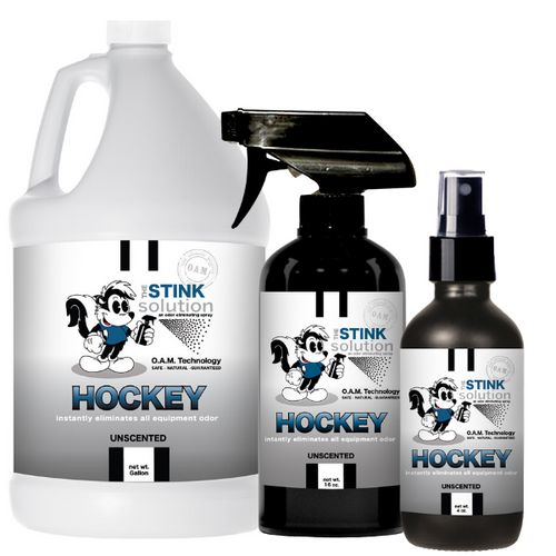 Hockey Odor Eliminating Spray in Unscented Gallon, 16 oz. and 4 oz Bundle