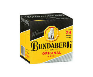 Bundaberg & Cola 4.6% Cans 375ml x 24