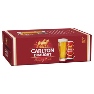 Carlton Draught Cans 375ml x 24