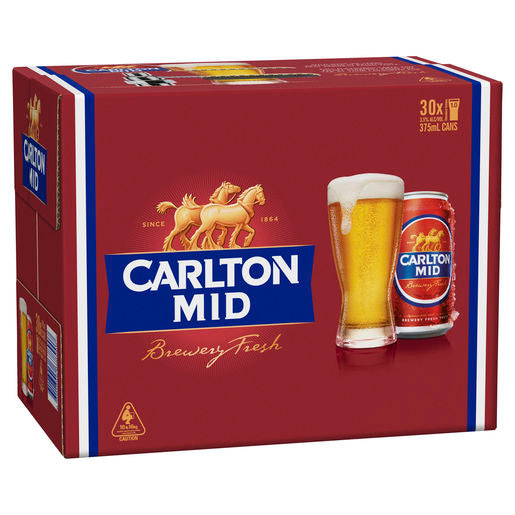 Carlton Mid Cans Block 375ml x 30