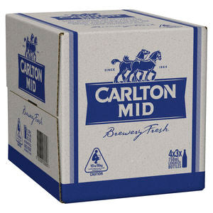 Carlton Mid Bottles 750ml x 12