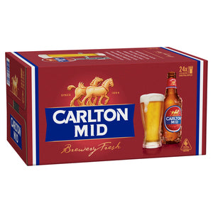 Carlton Mid Stubbies 375ml x 24