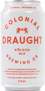 Colonial Draught Ale Can 375ml x 24