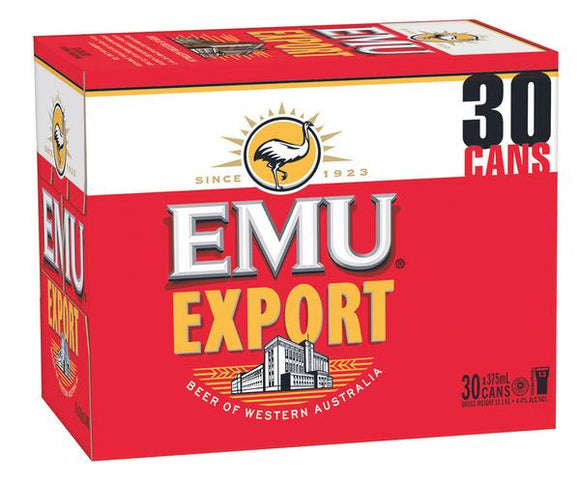 Emu Export Block Cans 375ml x 30