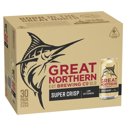 Great Northern Super Crisp Cans Block 375ml x 30