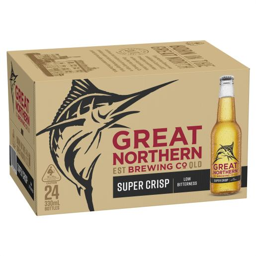 Great Northern Super Crisp Bottles 330ml x 24
