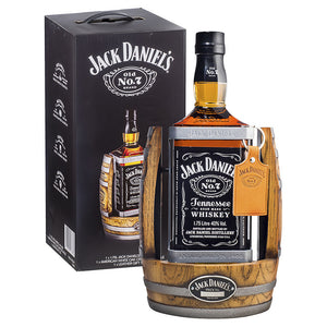 Jack Daniel's Tennessee Whiskey 1.75L & Whiskey Barrel Cradle
