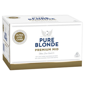 Pure Blonde Premium Mid Stubbies 355ml x 24