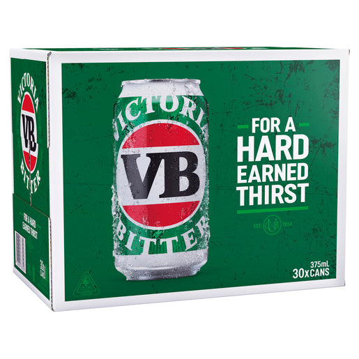 Victoria Bitter Cans Block 375ml x 30