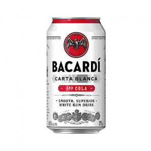Bacardi & Cola Cans 375ml x 24