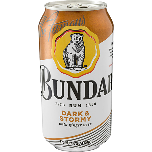 Bundaberg Dark & Stormy 4.6% Cans 375ml x 24