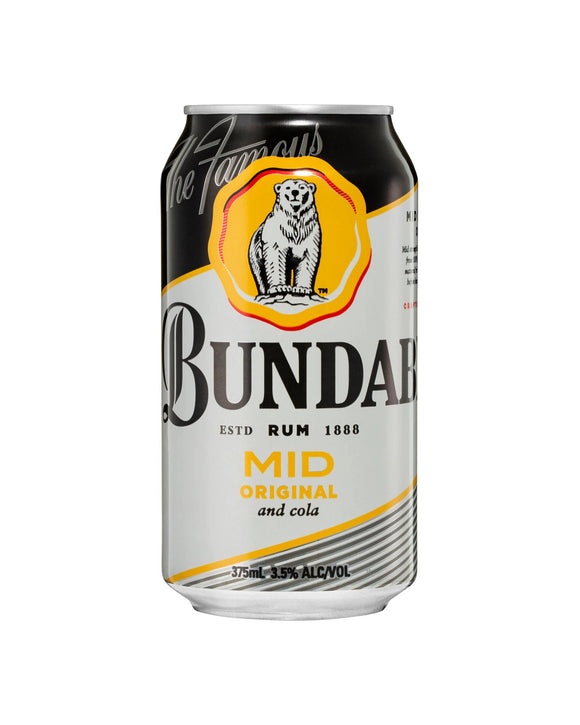 Bundy & Cola Mid 3.5% Cans 375ml x 24