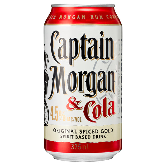 Captain Morgan Spiced Rum & Cola 4.5% Can 375ml x 24