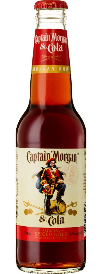 Captain Morgan Spiced Rum & Cola Stubbies 4.8% 330ml x 24