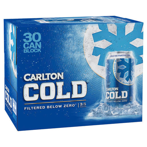 Carlton Cold Cans Block 375ml x 30