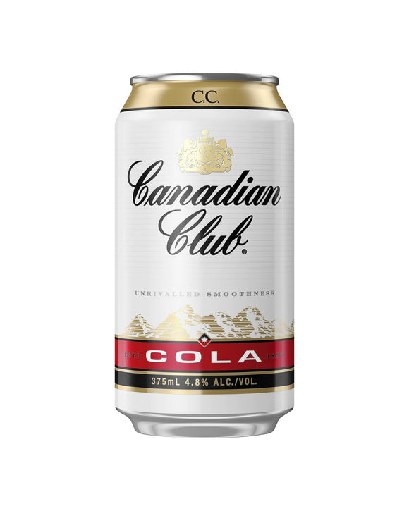 Canadian Club & Cola 4.8% Cans 375ml x 24