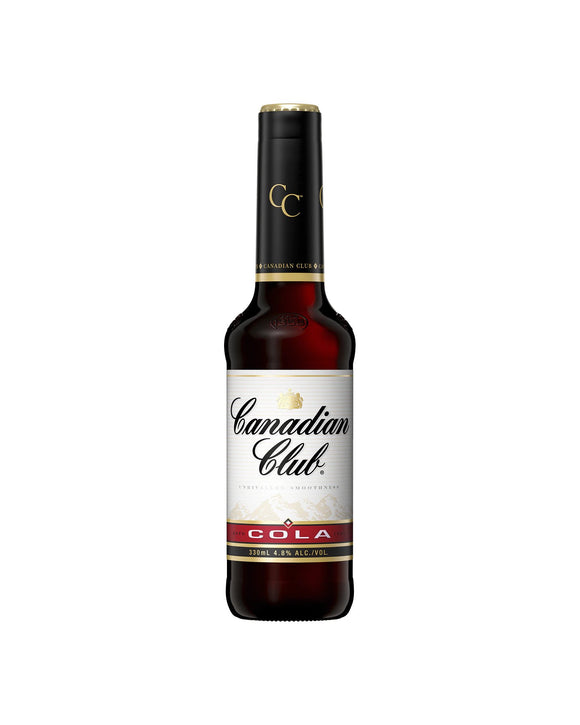 Canadian Club & Cola 4.8% Stubbies 330ml x 24