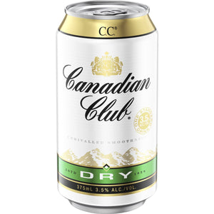 Canadian Club & Dry MID 3.5% Cans 375ml x 24