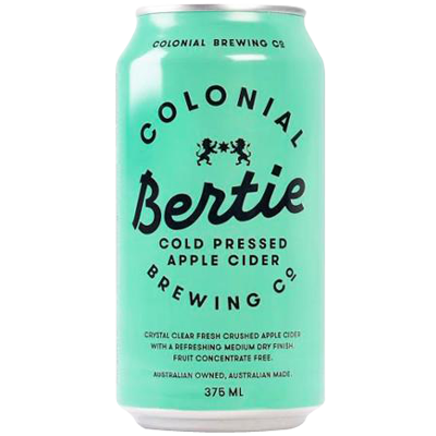 Colonial 'Bertie' Apple Cider Cans 375ml x 24