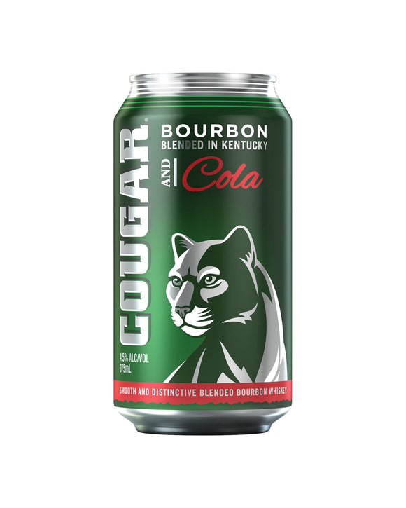 Cougar Bourbon & Cola 4.5% Cans 375ml x 24