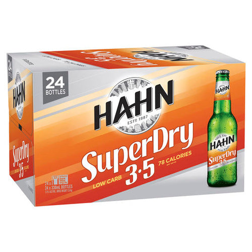 Hahn Super Dry 3.5% Stubbies 330ml x 24