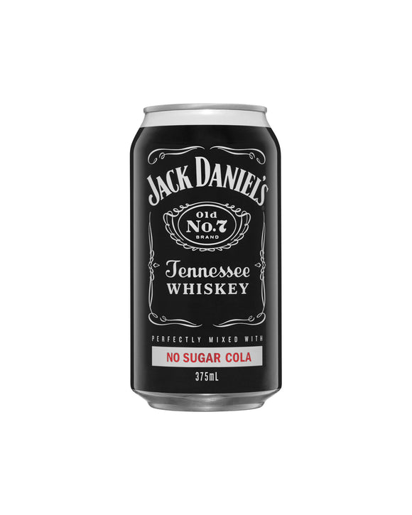 Jack Daniel's & Zero Sugar Cola 4.8% Cans 375ml x 24