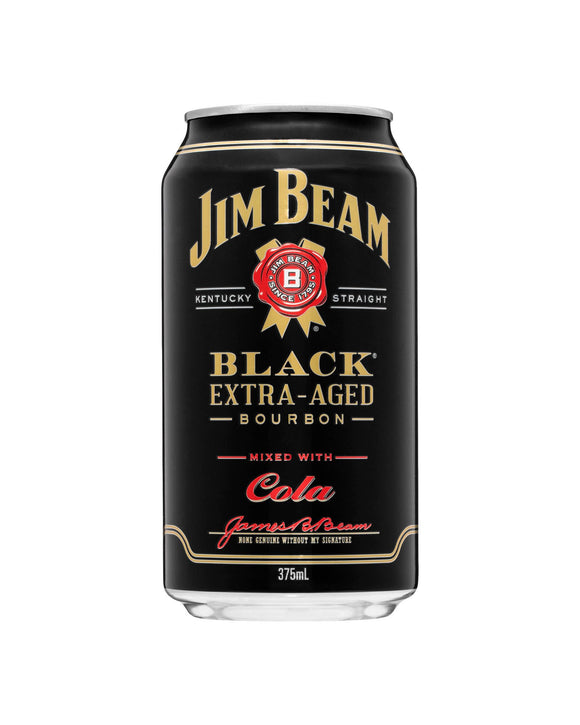 Jim Beam Black & Cola 5% Can 375ml x 24