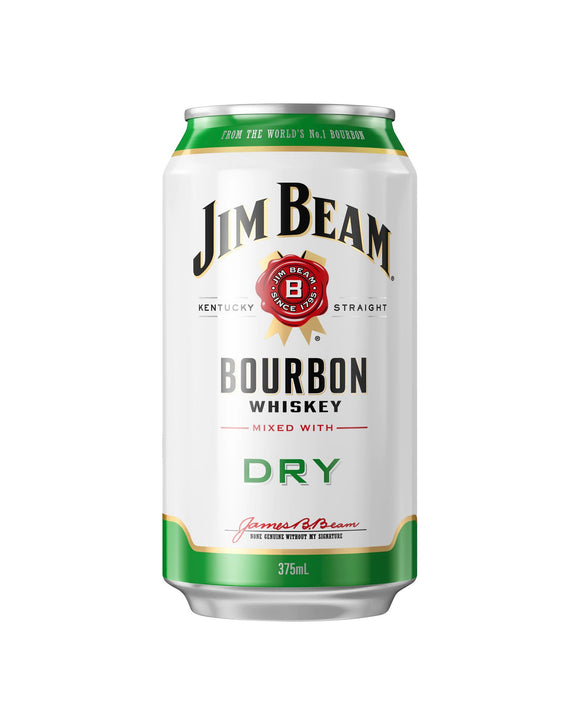 Jim Beam & Dry 4.8% Cans 375ml x 24