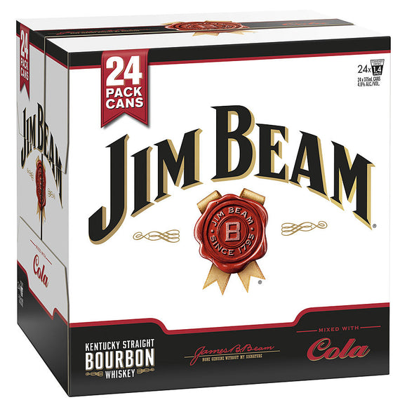 Jim Beam & Cola Cube 4.8% 375ml x 24