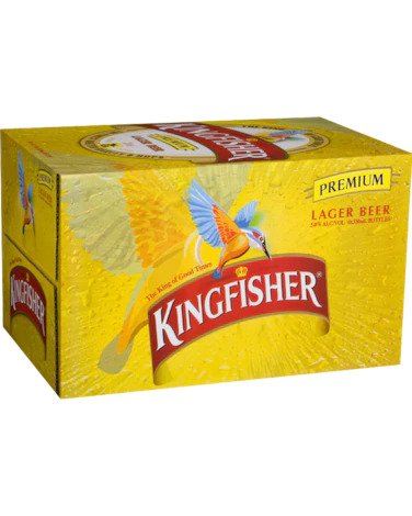 Kingfisher Indian Lager Bottles 330ml x 24