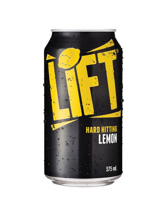 Lift Lemon Squash Cans 375ml x 24