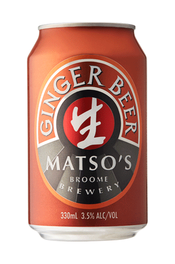 Matso Ginger Beer Cans 330ml x 24
