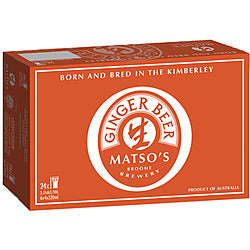 Matso Ginger Beer Bottles 330ml x 24