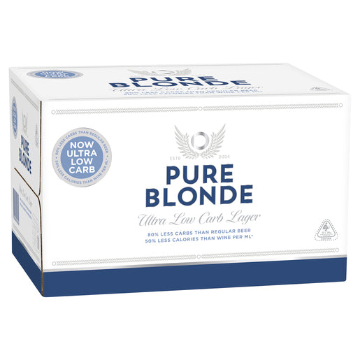 Pure Blonde 4.2% Stubbies 355ml x 24