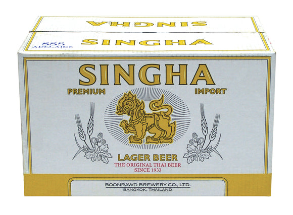 Singha Beer Bottles 330ml x 24
