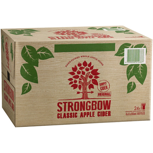 Strongbow Classic Apple Cider 355ml x 24 Bottles