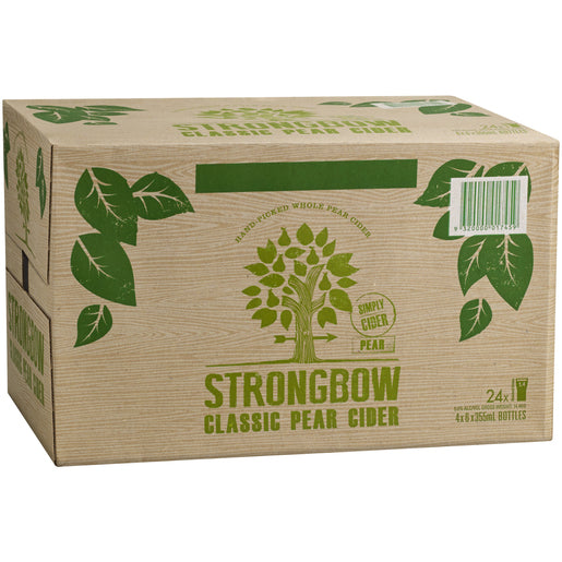 Strongbow Pear Cider 355ml x 24 Bottles