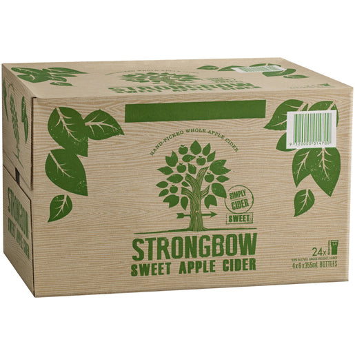 Strongbow Sweet Apple Cider 355ml x 24 Bottles