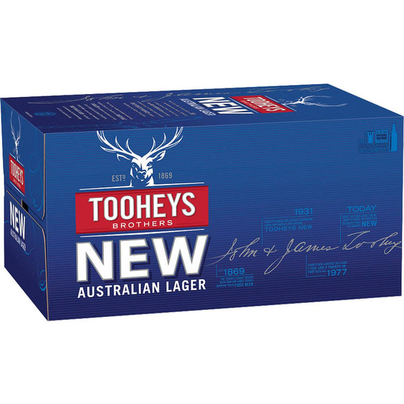 Tooheys New Stubbies 375ml x 24
