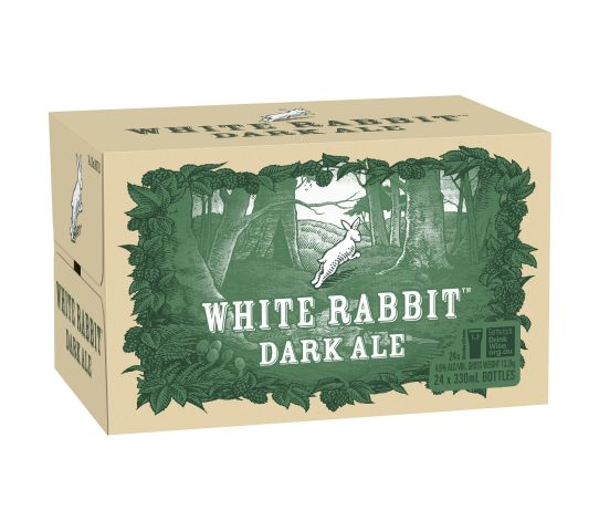 White Rabbit Dark Ale Bottles 330ml x 24
