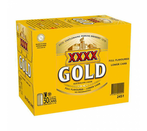 XXXX Gold Cans Block 375ml x 30