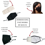 Adjustable face mask w/ filters