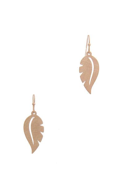 Leaf Shape Drop Earring