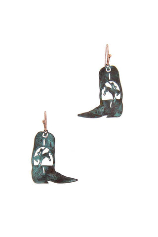 Cowboy Boot Earring